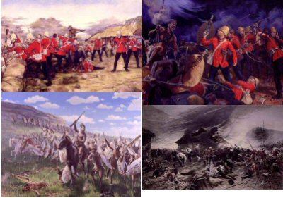 PPACK0033. Postcard Pack 0032. <p>Titles include : <br> <b> DHM926.  Defence of Rorkes Drift by Brian Palmer.  <br> DHM022 Defence of Rorkes Drift by Alphonse De Neuville. <br> DHM560 Plugging the Gap by Mark Churms.<br> DHM561 Into the Fire by Mark Churms. </b> <b><p>Set of 4 postcards.<p> All postcards size 6 inches x 4 inches (15cm x 10cm)