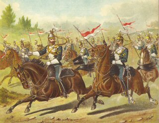17th Lancers, Dispersing in Pursuit During a Field Day by Richard Simkin.