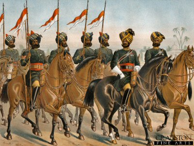 The 2nd Bombay Lancers (Review Order) by Richard Simkin (P)