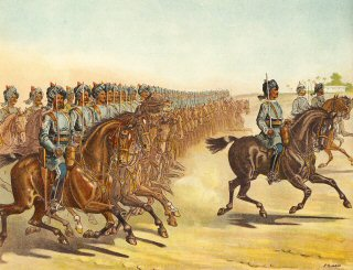 The 3rd Madras Light Cavalry Trotting Past, Reveiw Order by Richard Simkin (P)