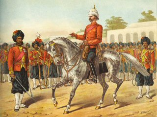 The 7th Bengal Native Infantry on Parade by Richard Simkin (P)