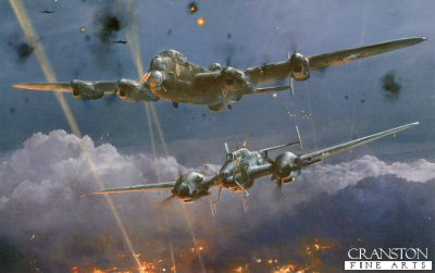 Lancaster Under Attack by Robert Taylor.