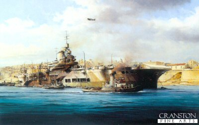 HMS Illustrious by Robert Taylor. (AP)