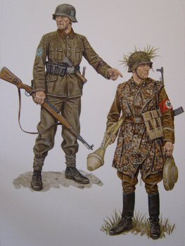 Volkssturmman, Freikorps Sauerland, Ruhr Pocket, Western Front, March/April 1945 and Zugfuhrer, SA Volksstrum Panzerjager unit, Eastern Germany, January 1945 by Stephen Andrew. (P)