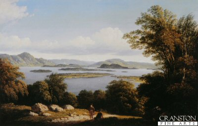 SC33. Loch Lomond by John Knox. <b><p> Open edition print. <p> Image size 17 inches x 13 inches (43cm x 33cm)