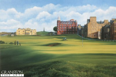 SC41. St. Andrews View From the 17th by Fraser Shaw <b><p> Limited edition of 1250 prints. <p> Image size 17 inches x 10 inches (43cm x 25cm)