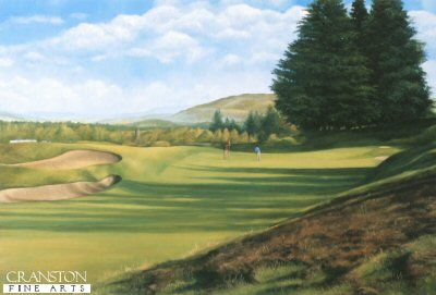 SC42. Kings Course, Gleneagles by Fraser Shaw <b><p> Signed limited edition of 1250 prints. <p> Image size 17 inches x 12 inches (42cm x 31cm)