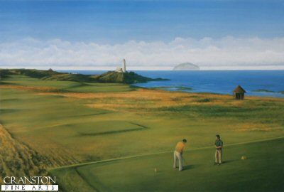 SC43. Turnberry Golf Course by Fraser Shaw <b><p> Signed limited edition of 1250 prints. <p> Image size 17 inches x 10 inches (43cm x 25cm)