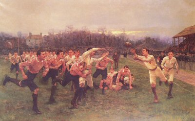 The Rugby Match by William Barnes Wollen.