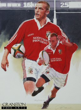 Matt Dawson - Images of the Lions by Gary Keane.