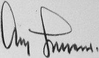 The signature of General Adolf Galland (deceased)
