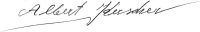 The signature of Albert Kerscher (deceased)