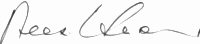 The signature of Chief Test Pilot Alex Henshaw (deceased)