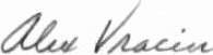 The signature of Commander Alex Vraciu USN (deceased)
