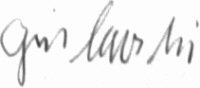 The signature of Hauptmann Alfred Grislawski (deceased)