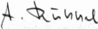 The signature of Oberstleutnant Alfred Rubbel (deceased)