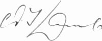 The signature of Flight Lieutenant Sir Archie Lamb KBE CMG DFC