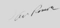The signature of Squadron Leader Arthur Roscoe DFC