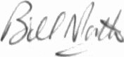The signature of Flying Officer Bill North (deceased)