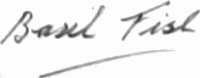 The signature of Flying Officer C B R Fish