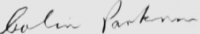 The signature of Flight Lieutenant Colin Parkinson DFC (deceased)