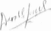 The signature of Flight Lieutenant Derek Lovell