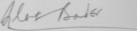 The signature of Group Captain Sir Douglas Bader CBE, DSO*, DFC*