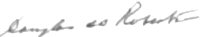 The signature of Flight Lieutenant Douglas Robertson