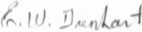 The signature of Lt Edward Dienhart