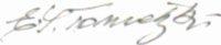 The signature of Gefreiter Emanuel Tometzki