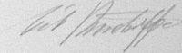 The signature of Major Erich Rudorffer (deceased)