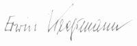 The signature of Erwin Kressmann (deceased)