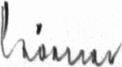 The signature of Generalmajor Friedrich Korner (deceased)