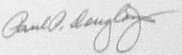 The signature of General Paul Douglas (deceased)