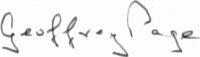 The signature of Wing Commander Geoffrey Page DSO OBE DFC (deceased)