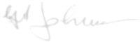 The signature of Squadron Leader George L. Johnson DFM