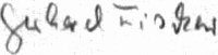 The signature of Gerhard Fischer (deceased)