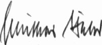 The signature of Oberfeldwebel Gunther Bahr (deceased)