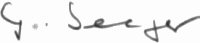 The signature of Oberleutnant Gunther Seeger (deceased)