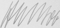 The signature of Major Hans-Ekkehard Bob (deceased)