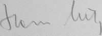The signature of Oberstleutnant Hans Lutz (deceased)