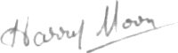 The signature of Squadron Leader Harry Moon