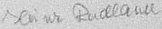 The signature of Feldwebel Heinz Radlauer