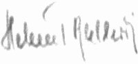 The signature of Leutnant Helmut Ballewski