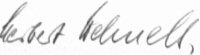 The signature of General Herbert Wehnelt
