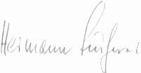 The signature of Oberst Hermann Buchner (deceased)