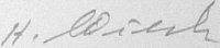 The signature of Oberfeldwebel Hermann Wieczorek