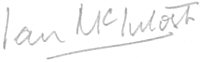 The signature of Vice-Admiral Sir Ian McIntosh KBE, CB, DSO, DSC (deceased)