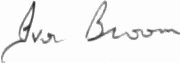 The signature of Air Marshal Sir Ivor Broom KCB CBE DSO DFC AFC (deceased)