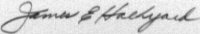 The signature of Master Sergeant James E Halkyard